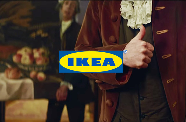 IKEA Imagine how people use Instagram back in 17th Century
