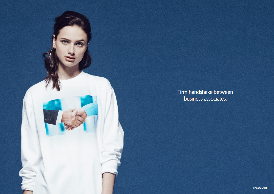 Adobe turns boring stock photos into a new clothing line