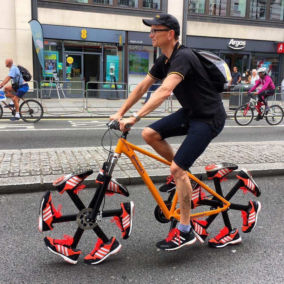 Running Shoe Bike