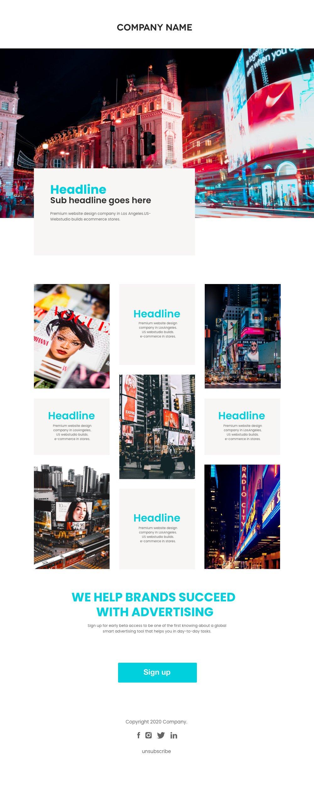 advertising newsletter xd