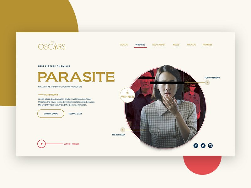 Oscar Website Redesign Concept