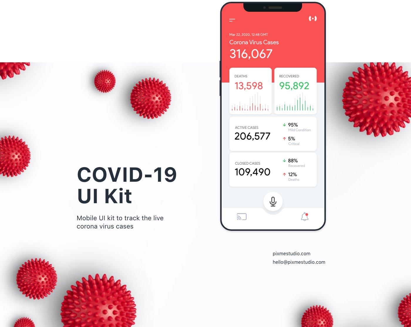 coronavirus ui kit landing page