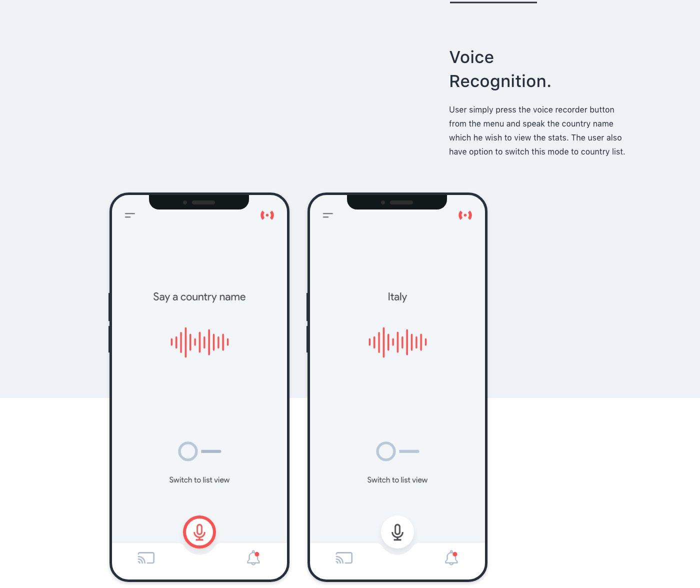 coronavirus ui kit - voice recognition