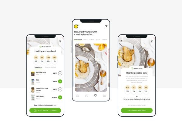healthy food recipes ui kit