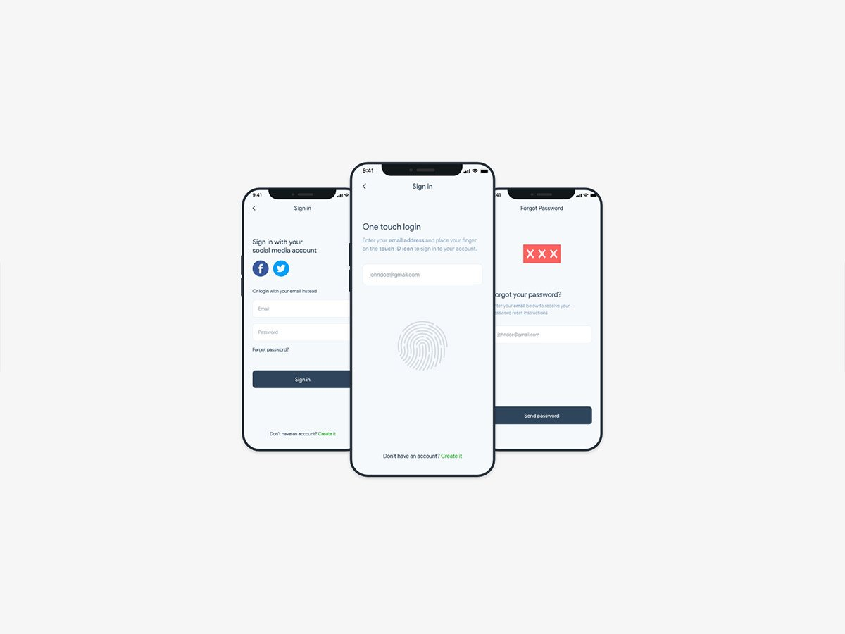 fitocial one touch login screens