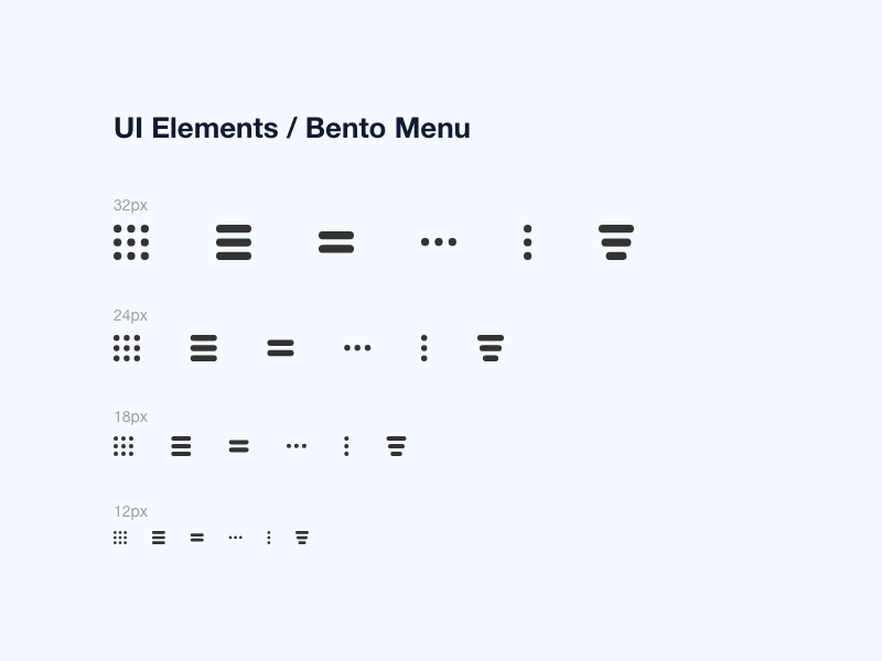 ui elements sizes